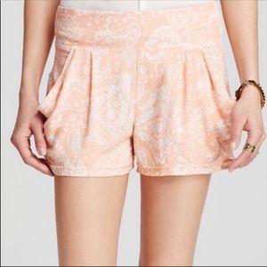 Free People Peachy Floral Boho Shorts